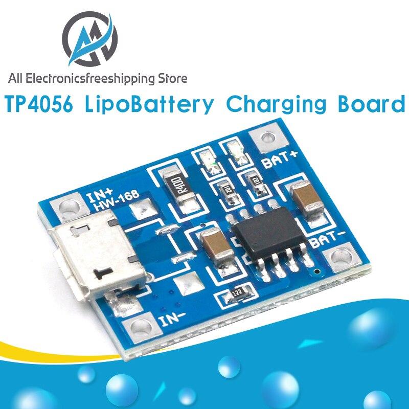 10 шт. TP4056 1A Lipo зарядное устройство модуль зарядное устройство литиевая батарея DIY микро порт микрофон USB Новое поступление
