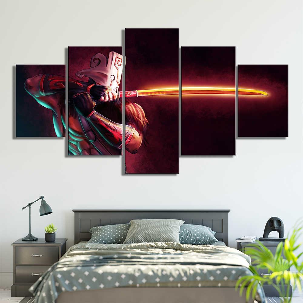 Современная Модульная Картина на холсте игровой постер 5 шт. 2 DotA Juggernaut настенное искусство домашний декор для мальчиков комната печатная картина произведение искусства
