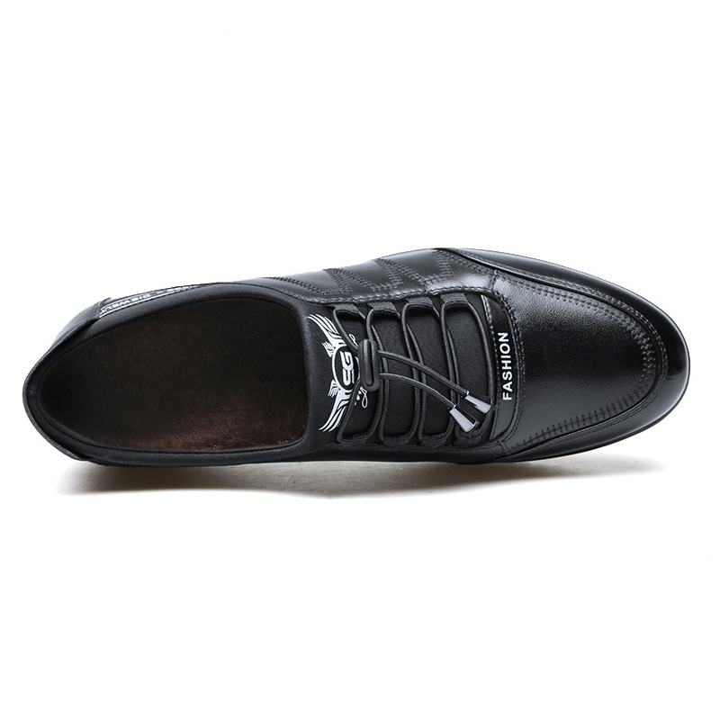 Image 3 - 2019 Fashion Cow Genuine Leather Shoes Men Casual Slip on Driving Runing Men Loafer Black Luxury Men's Shoes Sneakers Moccasins-in Men's Casual Shoes from Shoes
