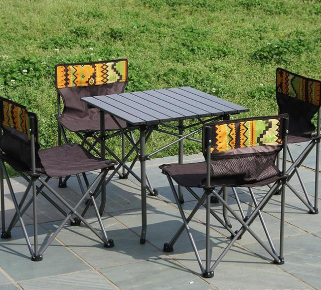 Outdoor Folding Camping Table Chair Set  1