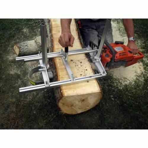 "48 INCH PORTABLE CHAINSAW MILL LOGGING SAW 120CM 48"" EDGE MILLER BAR LUMBER PLANKING TIMBER TUFF LOG PLANK ALUMINUM STEEL"