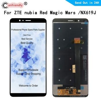 Перейти на Алиэкспресс и купить ЖК-дисплей для zte nubia Red Magic NX619J ЖК-дисплей + сенсорная панель экран дигитайзер сборка стекло для zte nubia NX619J