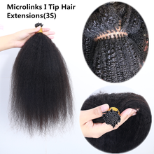 Made-Hair-Extensions Microlinks-Stick Kinky-Straight-Machine I-Tip 8-30inches 1g/Pc 100pcs/Set