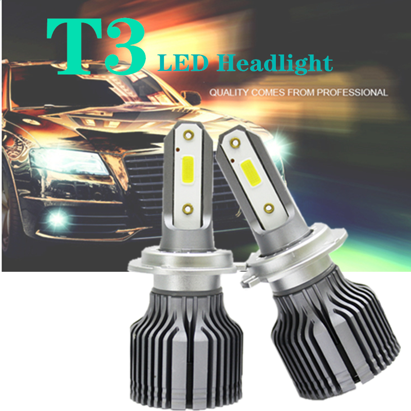 2PCS/SET super H8 LED H7 Car Light H4 H1 H11 hb4 Headlight Bulb 9005 9006 turbo Fog 60W 4800LM 6000K Styling