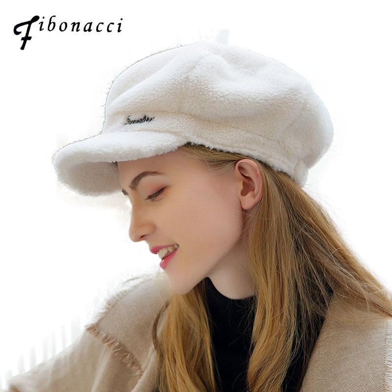 Женская шапка берет из овечьей шерсти Фибоначчи, однотонный берет, Осень зима Женские береты      АлиЭкспресс