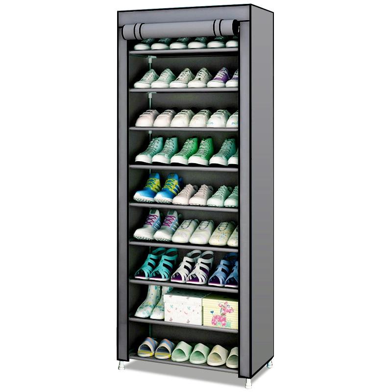 Simple Dustproof Shoe Cabinet Nonwoven Home Dorm Assembled Shoe Storage Organizer Enteryway Zipper Closure Shoe Rack Shoe Shelf