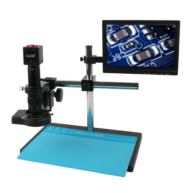 1080P Freely Adjustable Stand SONY IMX307 VGA HDMI Industry Video Microscope Camera 180X 300X C Mount Lens For PCB Soldering