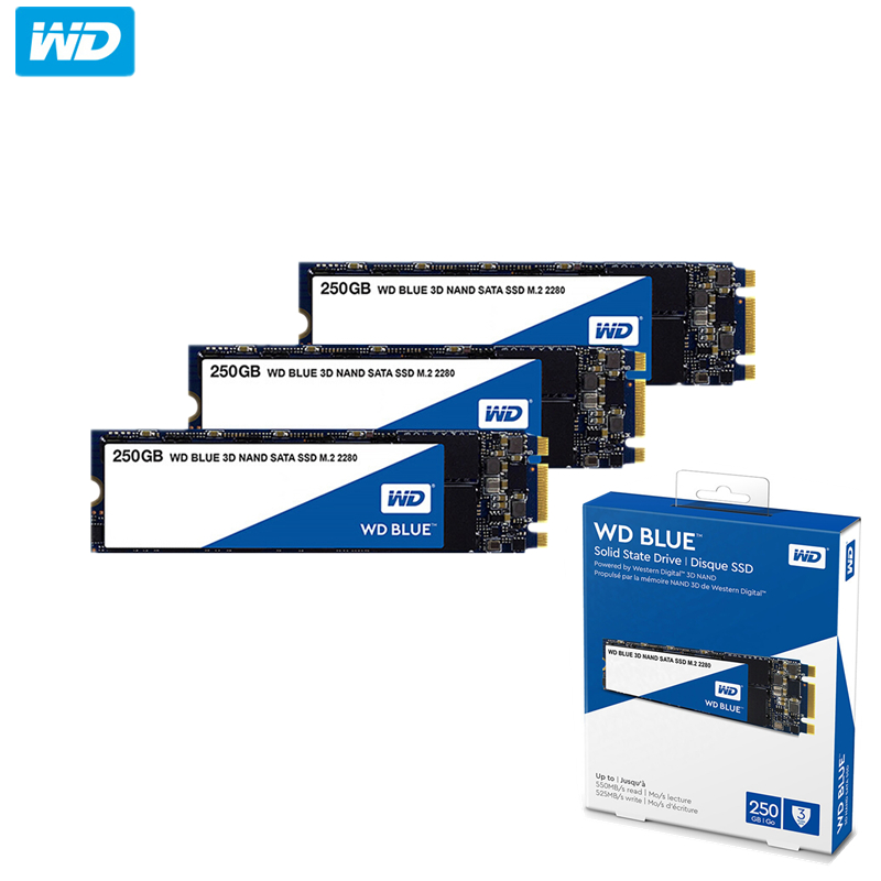 Original Western Digital Blue M.2 SSD 2TB 1TB 500GB 250GB  Internal Solid State Drive Hard Disk NGFF 2280 560MB/s