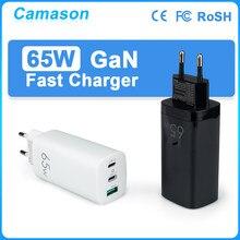 Camason 65w gan carregador rápido qc 4.0 3.0 tipo c pd usb portátil do telefone móvel carga rápida para o iphone 12 pro xiaomi portátil huawei