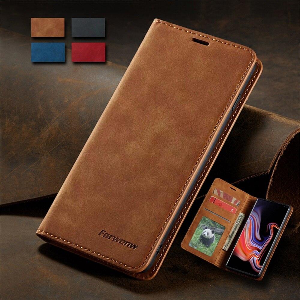 Estojo de Couro Ultra Slim para Samsung A71 A51 A41 A01 S10e Note20 Ultra S20 S10 Mais Tampa Articulada A70 A50 A40 A20e A10 S9 S8 Plus S7