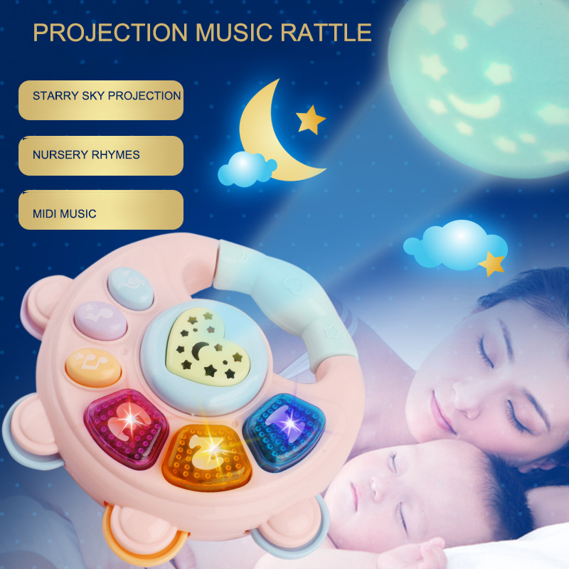 Baby Projection Music Rattler Drum Piano Guitar Baby Projection Story Machine Toy Music Educational Toys