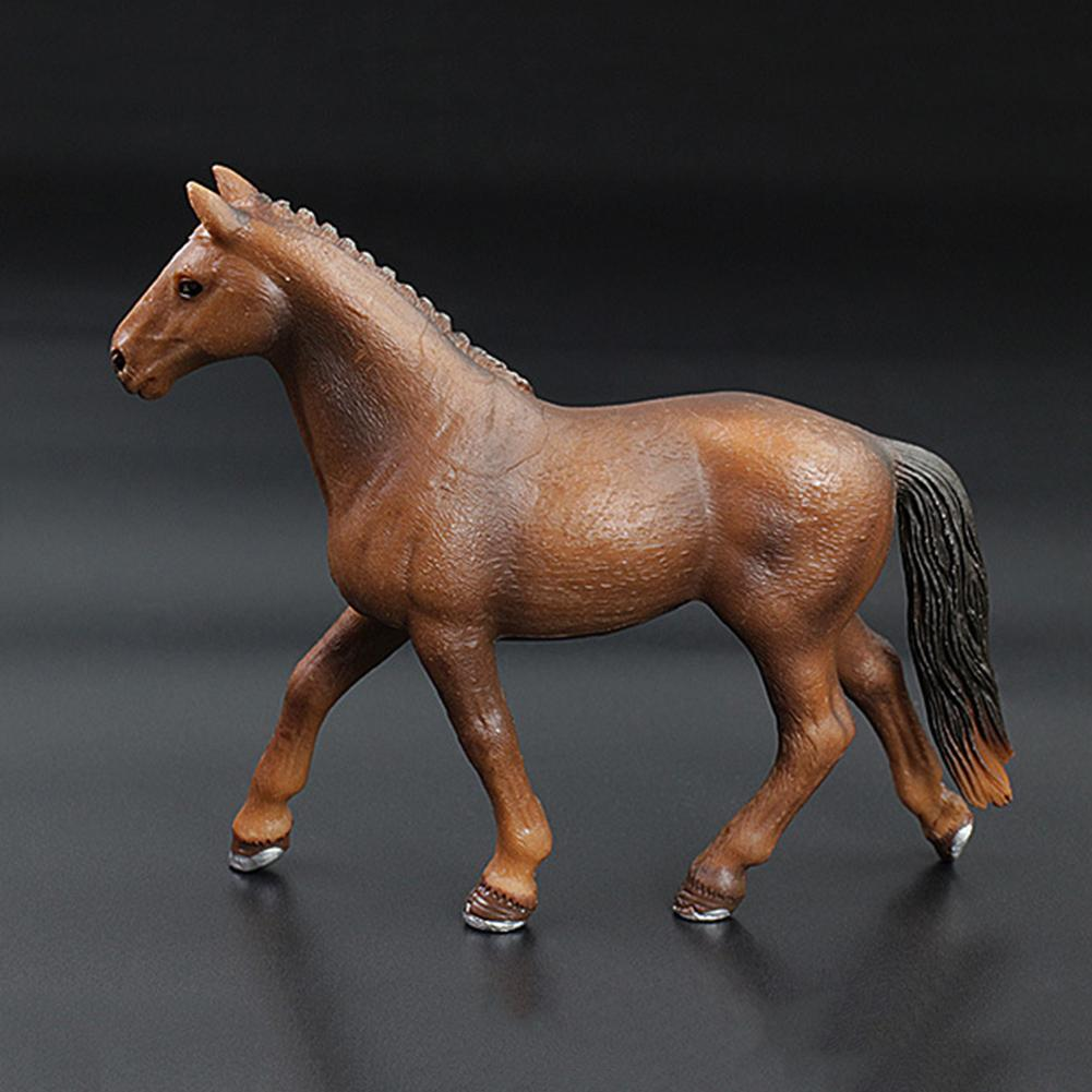 Simulation PVC Mare Stallion Horse Animal Figurine Model Kids Education Toy Great Cultivate Children's Cognition Natural Animals