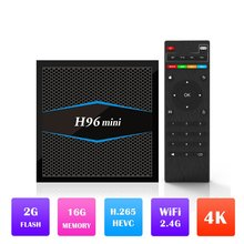H96 Mini Android 7.1 TV Box Amlogic S905W Quad Core 2GB 16GB WiFi Bluetooth 4.0 H96 Mini H.265 HD 4K Set-top Box Media Player цена 2017