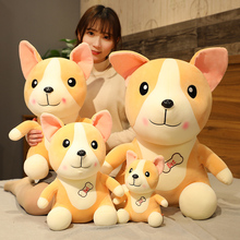 Hot Huggable Cute Corgi Dog Plush Toys Soft Cartoon Animal Puppy Doll for Kids Stuffed Pillow Cushion Girls Kawaii Birthday Gift