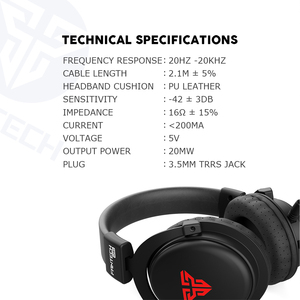 Image 5 - FANTECH MH82 3.5MM Plug Gaming Headphones Wired PC Stereo Earphones Headphones With Microphone For Profession Gamer FPS Game