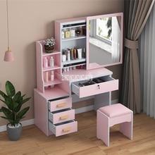 Lock-Stool Dresser Mirror Drawer Density-Board Bedroom T-Able Modern Makeup with Household