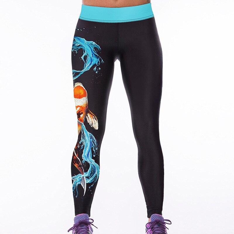 Women Leggings Mandala Flower 3D Printed Patchwork Color Fitness Leggins Slim High Waist Elastic Trousers Pants Legins