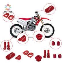 Para honda cr125r cr250r crf250r crf450r crf450x cr crf 250r motocicleta cnc bloco de eixo freio embreagem reservatório fluido conjunto capa