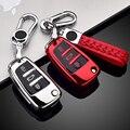 Новое поступление ТПУ чехол для автомобильного складного ключа чехол для Audi A3 8L 8P A4 B6 B7 B8 A6 C5 C6 4F RS3 Q3 Q7 TT 8L 8V S3 автомобильный умный чехол с дист...