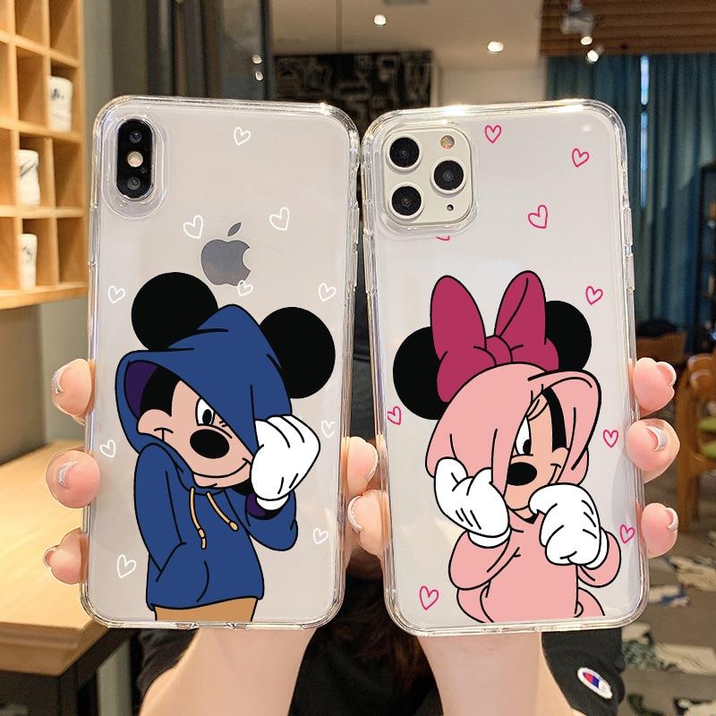 Cartoon Cute Minnie Soft Case For Huawei P20 P30 P40 Pro Coque Clear TPU Cover For Huawei Nova 2I 3 3I 4 4E 5 5T 6 6SE Lite Pro