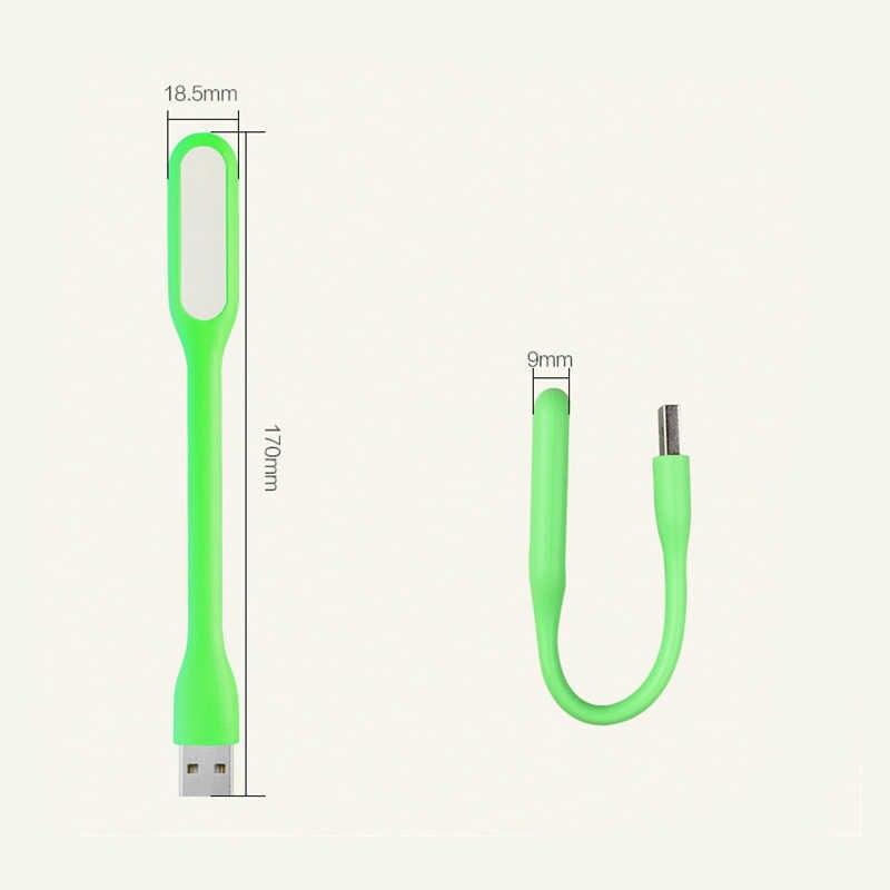 USB светодиодный мини Ночной светильник книжный свет Ультраяркий, портативный светильник для power Bank гибкий компьютерный ночник для чтения