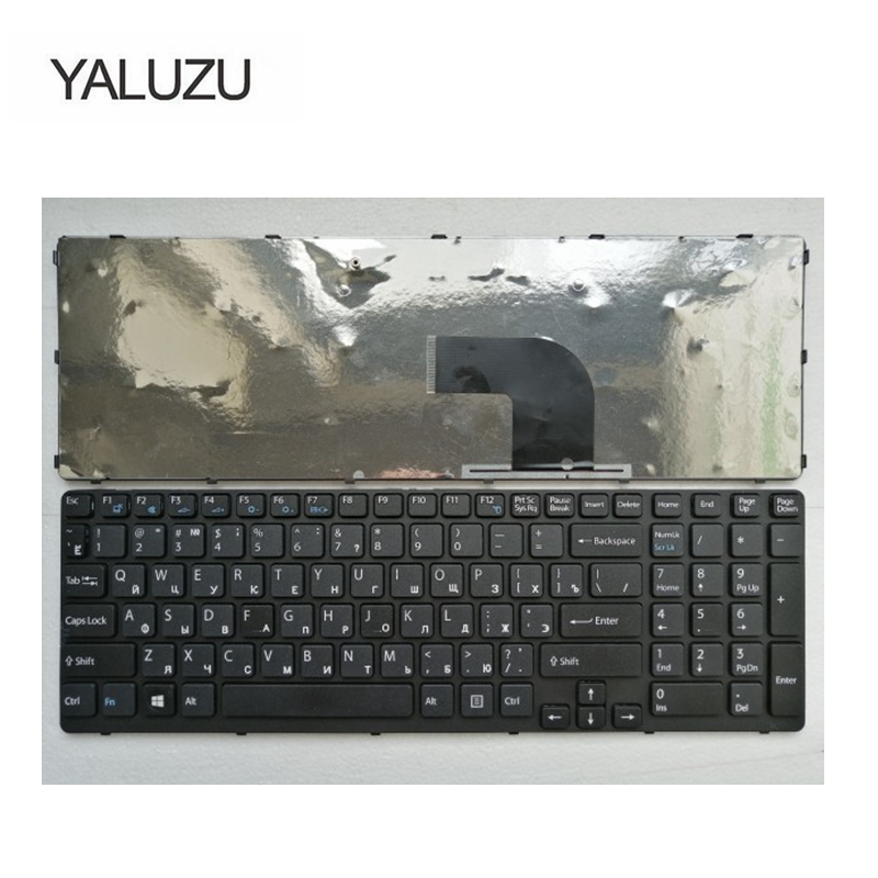 Image 3 - YALUZU Russian Laptop keyboard for Sony SVE17 E15 E15115 E15116 E15118 E1511S SVE151 russian RU layout keyboards black-in Replacement Keyboards from Computer & Office on