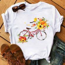 Повседневная футболка с мультяшным графическим принтом модная