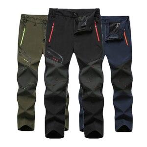 Image 1 - Мужские походные брюки размера плюс, 6XL, новые, летние, популярные, для пеших прогулок, рыбалки, кемпинга, скалолазания, бега, большие, водонепроницаемые, уличные штаны