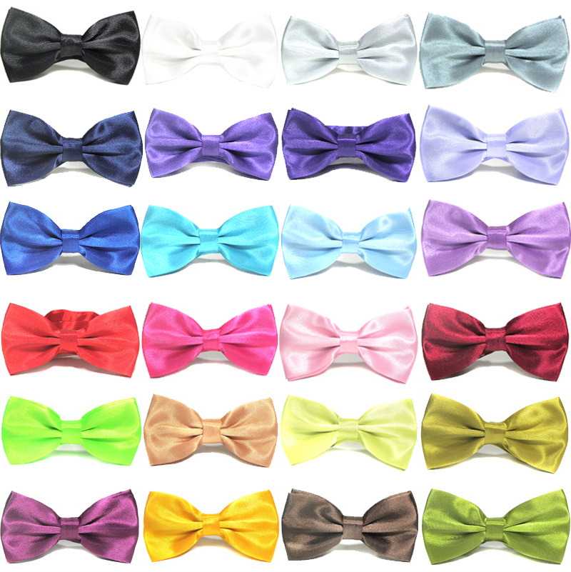 Bow Tie For Men's Business Marriage With Pure Color Bow Tie Mens Accessories