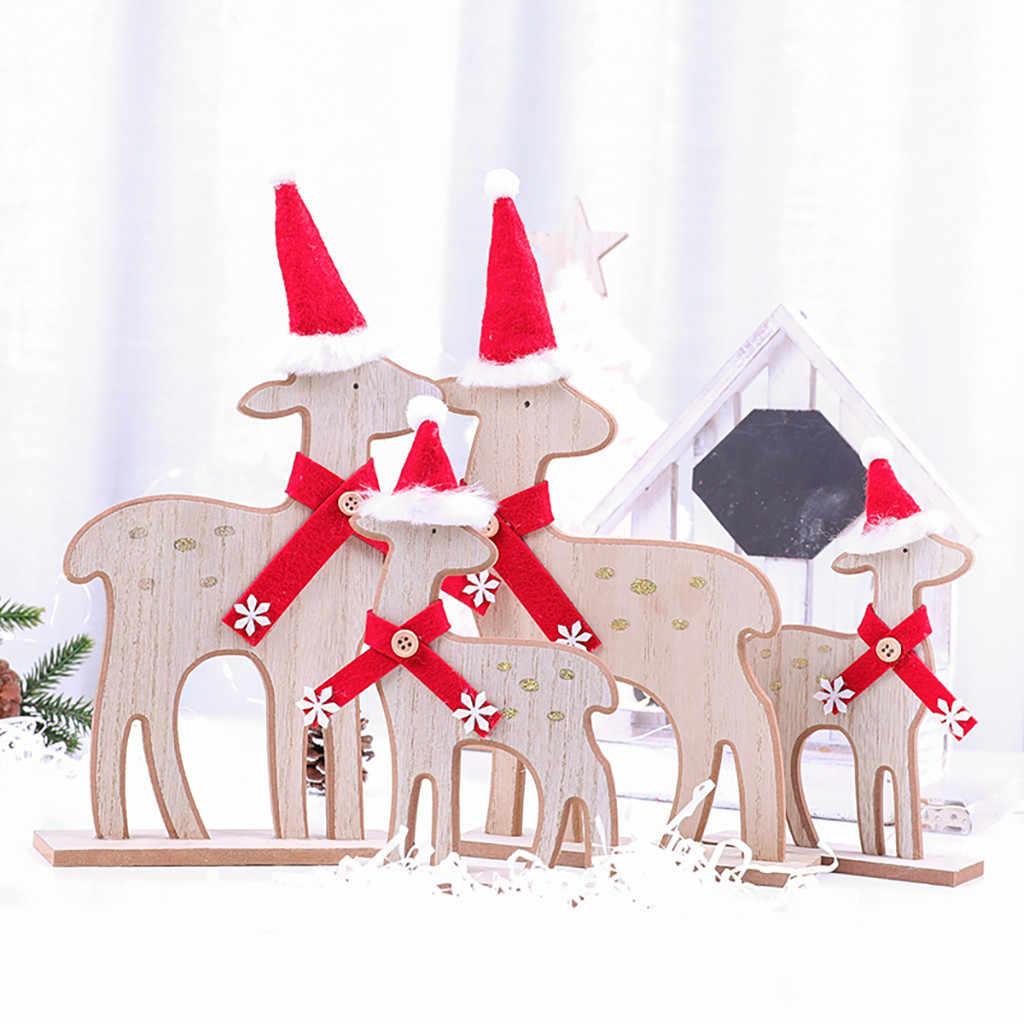 2019 Baru Kayu Natal Santa Claus Dekorasi Pesta Natal Dekorasi Rumah