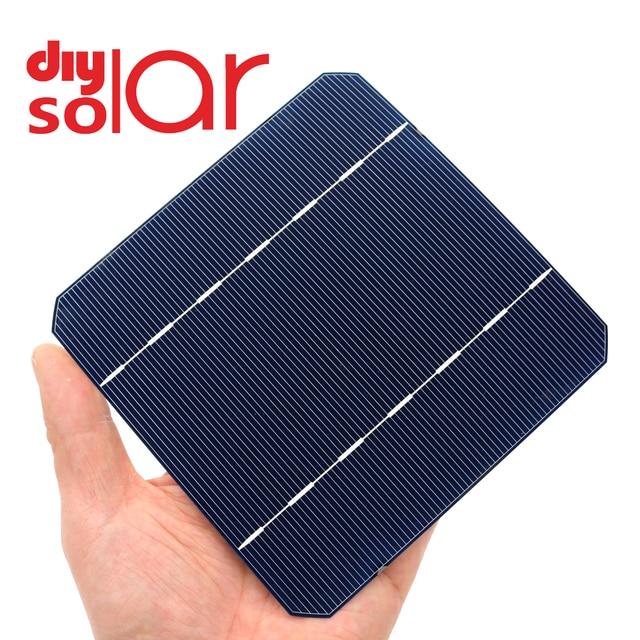 10 50 100 pces 2.8 w 125x125mm barato mono células solares 5x5 grau a monocristalino pv diy fotovoltaico sunpower c60 painel solar
