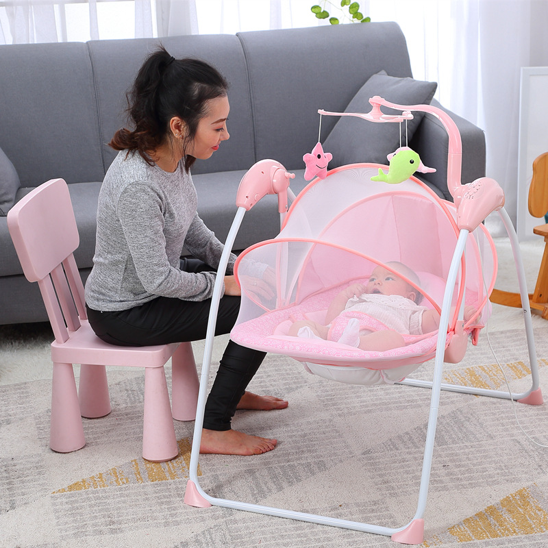 Infant Rocking Chair With Child-coaxing Artifact Multi-functional Comforting Chair With Baby Electric Vibration Reclining Chair