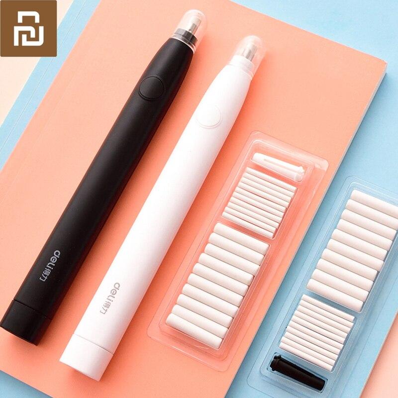 Механический Электрический ластик карандаш Youpin Deli, Ластики для детей, школьные и офисные принадлежности, резиновый ластик карандаш, сменный ластик|Записные книжки| | АлиЭкспресс