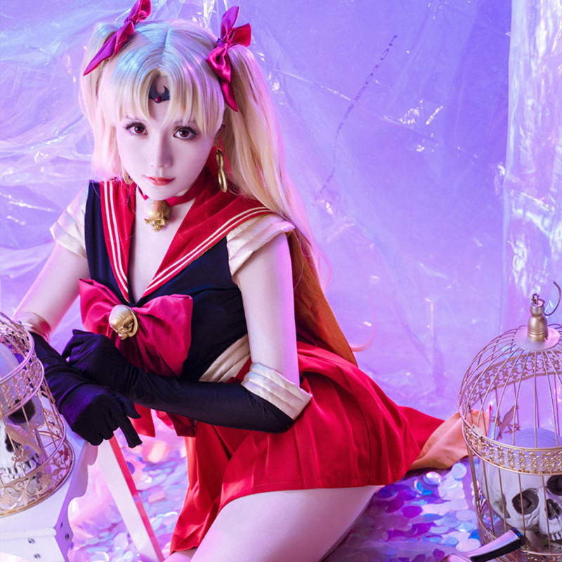 Fate/Grand Order FGO Ereshkigal Cosplay Sailor Moon Costume Fancy Dress Sailor Suit Halloween Carnival Costumes For Women Adult