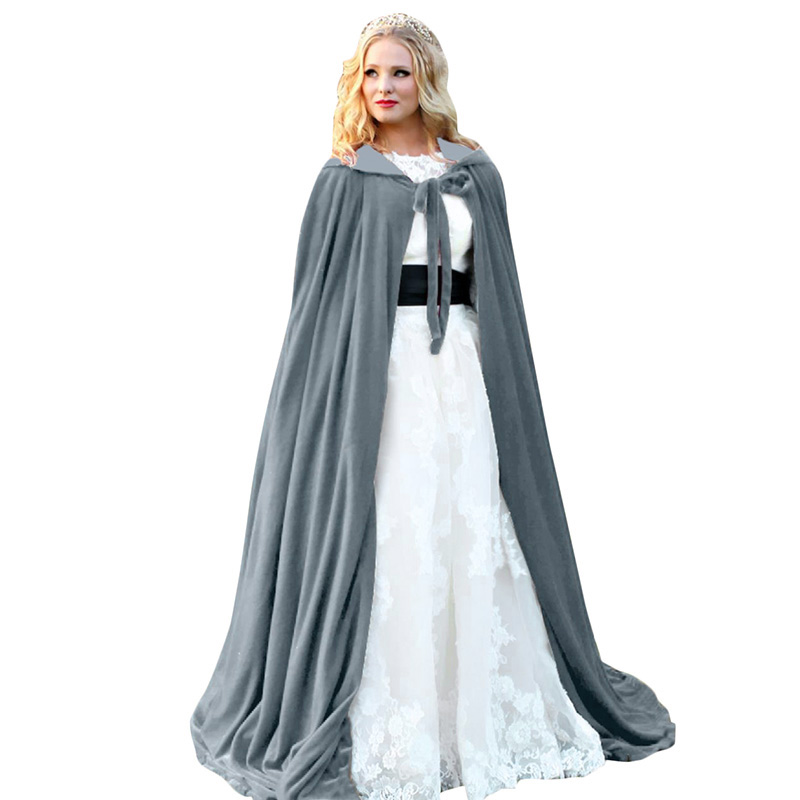 Adult Kids Halloween Hooded Death Cloak Robe Medieval Witchcraft Cape Costume