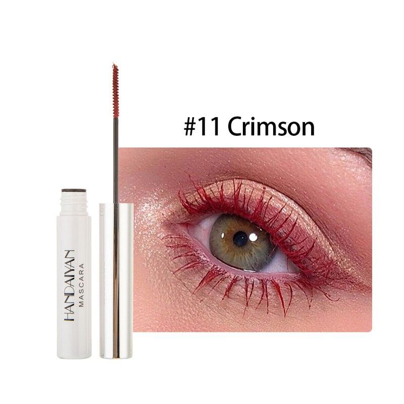 Цветная тушь водостойкие ресницы, Подкручивающая, удлиняющая, густой объем, макияж, ресницы для глаз, быстро сохнут, стойкий макияж для красоты - Цвет: 11