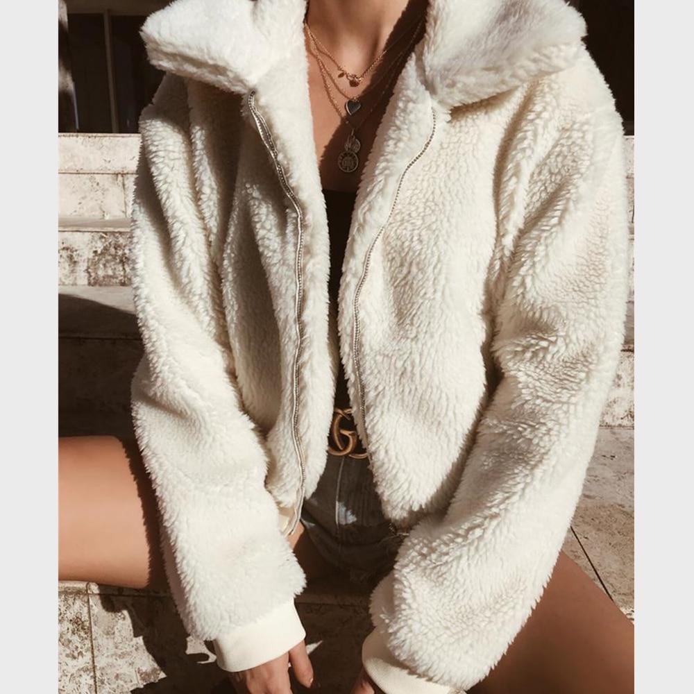Winter Jackets Women Cardigan Warm Velvet Coat Outerwear Zipper Pocket Female Jacket Coats High Street Ropa Mujer Casual Jackets