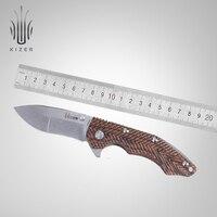 Kizer tactical knife titanium knife 3D textured handle useful edc hand tools KI4418 Ichthyo
