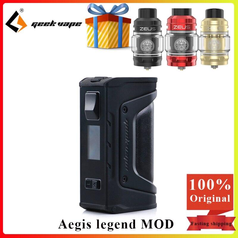 Mod vape GeekVape Aegis Legend 200W TC Box MOD by Dual 18650 cigarette électronique vape mod & 5ml zeus Sub ohm Tank VS Aegis solo