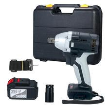 Impact-Wrench Cordless Electric Driver 980-Torque Battery with 1/2in-Chuck 2pcs