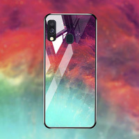 silicone case Tempered Glass Case For samsung galaxy A20 A30 A40 A50 Cases Space Silicone Covers for samsung A5 A6 A7 A8 plus 2018 back cover (4)