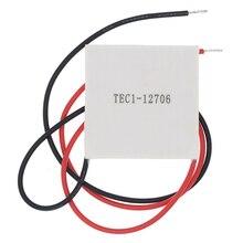 50pcs 100% 새로운 가장 저렴한 가격 TEC1 12706 TEC 1 12706 57.2W 15.2V TEC 열전기 냉각기 펠티어 (TEC1 12706)
