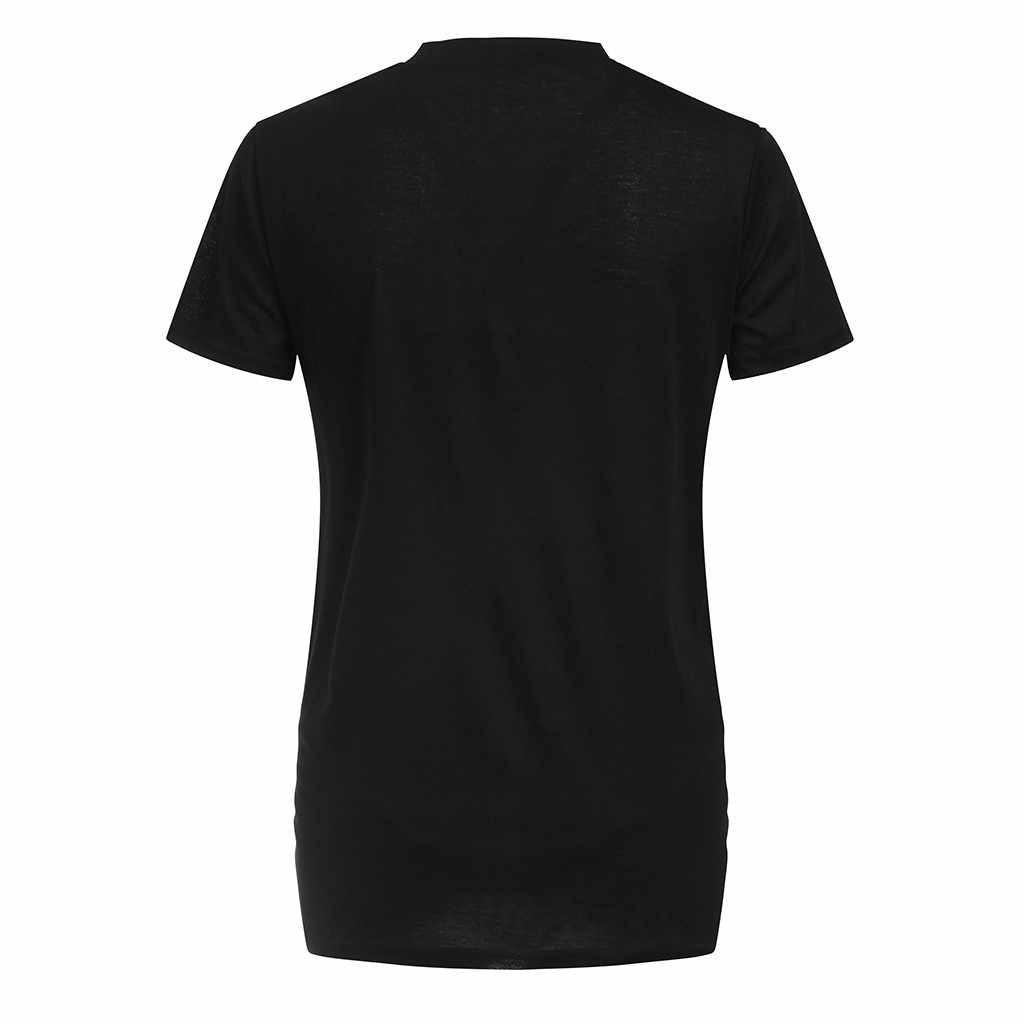 Sagace Wanita T-shirt Lengan Pendek Wanita Bersalin Bayi Huruf Kelinci Kelinci Cetak T-shirt Top Tee T-shirt Kehamilan Pakaian