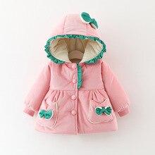 Зимняя одежда для маленьких девочек; теплая куртка с капюшоном; вечерние пальто принцессы; детская верхняя одежда; детские куртки на Рождество и день рождения