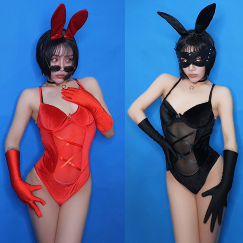 Bar Ds Stage <font><b>Festival</b></font> <font><b>Outfit</b></font> <font><b>Sexy</b></font> Bunny Uniform Bodysuit Nightclub Dj Female Singer Pold Dance Clothing Rabbit Costume DN4427 image