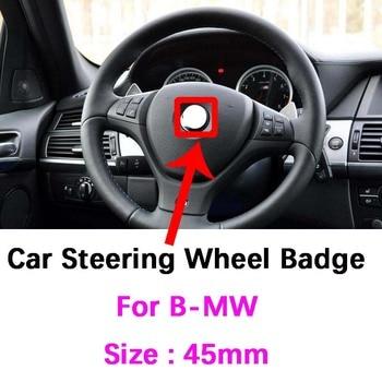 car styling key case for bmw e46 e39 e38 e90 e60 e36 f30 f30 e34 f10 f20 e92 e38 e91 e53 e70 x5 x3 x6 m m3 m5 m emblem key cover 45mm car Steering Wheel Badge Emblem steer wheel sticker for bmw E46 E39 E38 E90 E60 E36 F30 F30 E34 F10 F20 E92 E91 E53 X3 X5