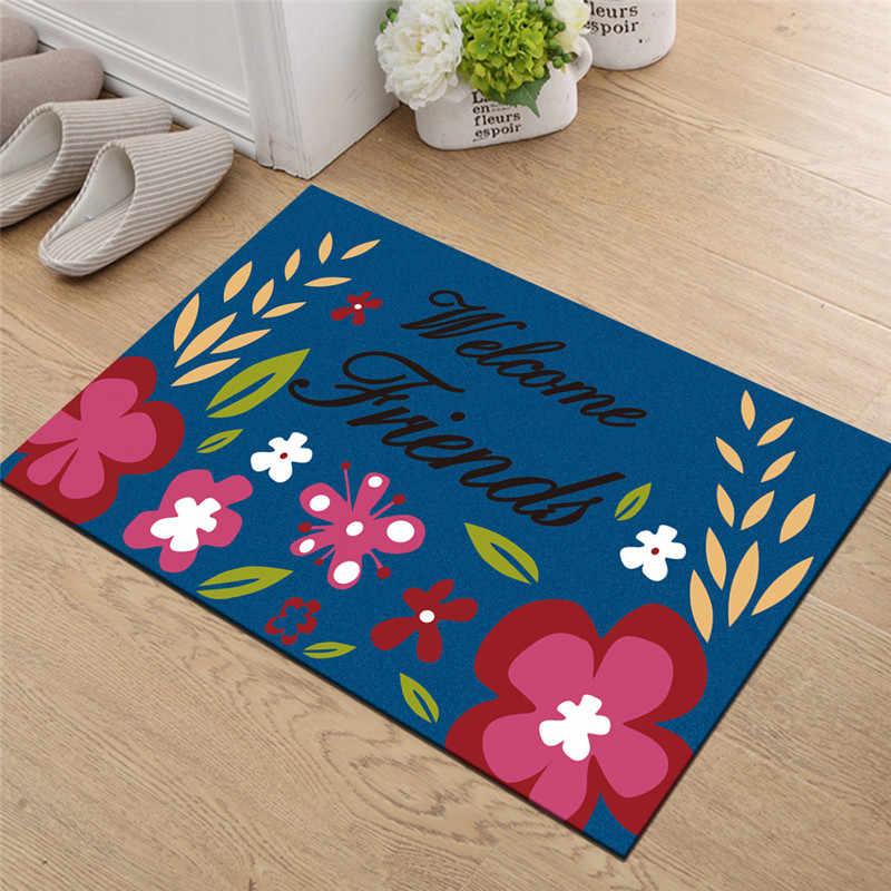 Animal Print Eingang Willkommen Matte Hause Teppiche Fußmatte für Eingang Tür Teppich Katze Eule Elch Flur Tür Boden Matte bad