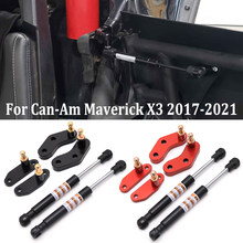 Puntoni a Gas apriporta anteriore e posteriore anodizzati in alluminio Billet per Can Am Maverick X3 & X3 Max 2017 2018 2019 2020 2021