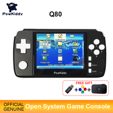 "Powkiddy q80 Retro Video Game Console Handset 3.5 ""IPS Screen Built in 4000 Games Open System PS1 Simulator 48G Memory NEW Games"