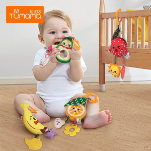 Baby Rattle Teether Baby Stroller Crib Hanging Rattles Baby Toys for 0-12 Months brinquedo bebe Christmas birthday gift погремуш(China)